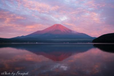 山中湖ロッジ滞在記8月編 その3 夜と早朝の富士山