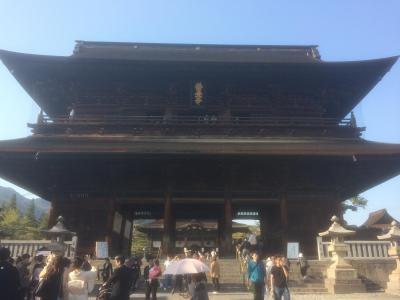 2018年 長野 善光寺に参詣する旅