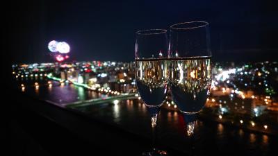 2019年8月旅 夏の会津と新潟花火の旅(2~3日目:新潟編~ホテルの部屋から花火鑑賞~)