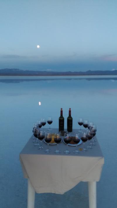 南米ツアー シニア夫婦ペルーとボリビアへ9 ボリビア編③ ウユニ塩湖で夕日鑑賞
