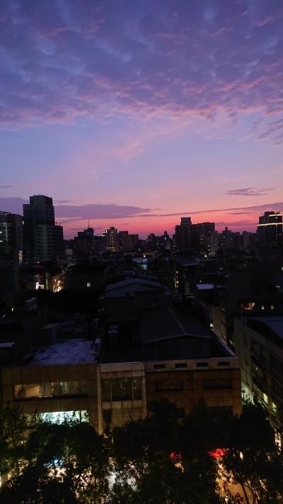 朝焼けや夕焼けの綺麗な暑いけど楽しい台北