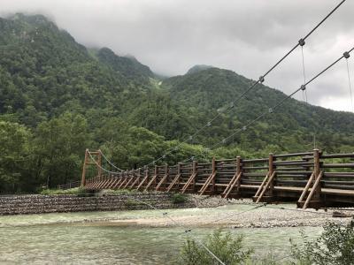 上高地から焼岳に日帰りハイキング 1日目