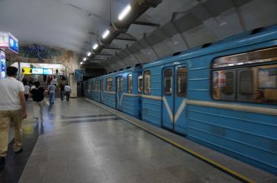 ウズベキスタン タシケントの地下鉄 ウズベキスタン線(ブルーライン)