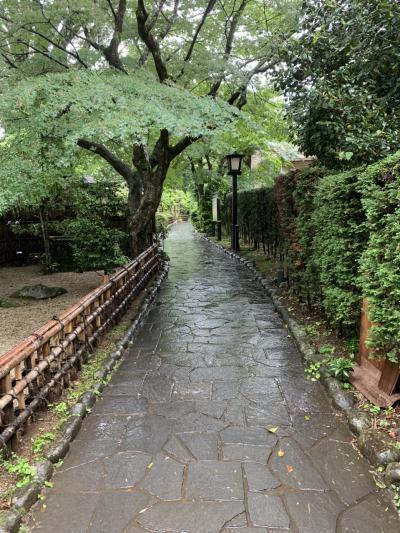 初めての1泊バスツアー1日目 雨の修善寺散策