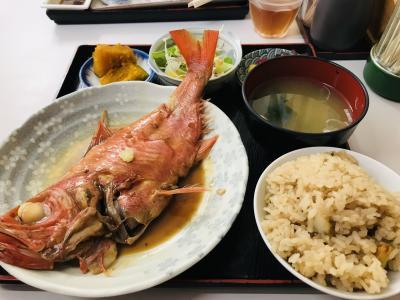 台風横断中の、三浦で金目定食と料理の神さまに参拝…【2019.8】