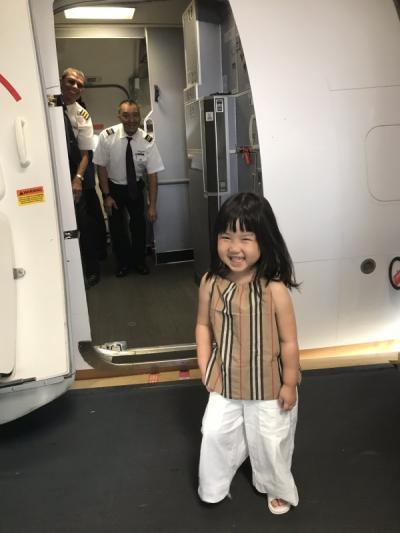 3世代3家族で行く2019お盆グアム旅行 後半 コックピットに乗せてもらいました