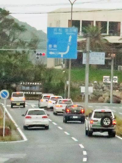 伊良湖港→豊橋駅 小雨/バス車窓 こだま乗車 ☆ミステリー・・は解けて目標達成-3日旅完了