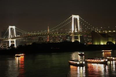 シニアの夏休み お台場の夜景 Summer holiday of a senior in Odaiba