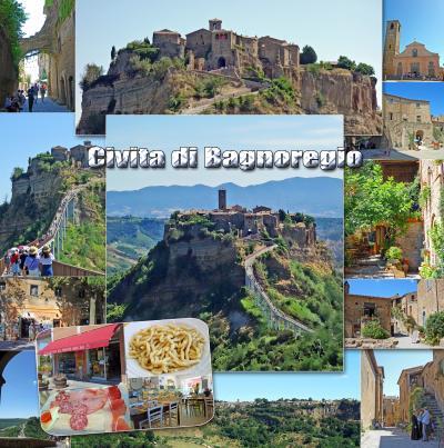 トスカーナ街巡り+ローマ 8 -死に行く町、チヴィタ ディ バーニョレージョを観光、オルヴィエートのウンブリチェッリのパスタを食べてみた-