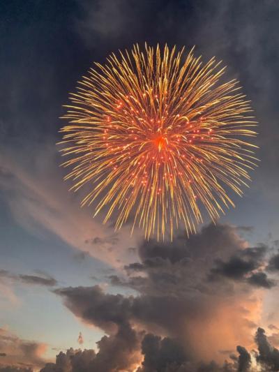 神明の花火大会と武田神社
