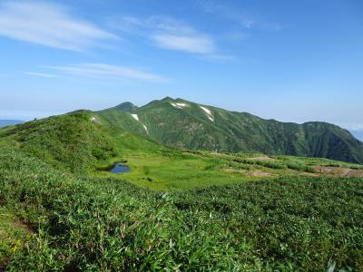 飯豊連峰縦走登山(飯豊山荘~川入)