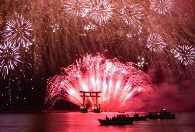 浜名湖の弁天島花火フェスを観覧して撮影