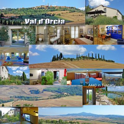 トスカーナ街巡り+ローマ 9 -絶景のオルチャ渓谷、ピエンツェ観光、A440 in Tuscany宿泊、温泉の村、バーニョ・ヴィニョーニ-