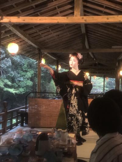 京都  川床料理と舞妓さん~嵐山鵜飼見物