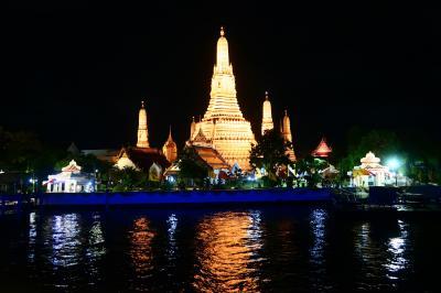 夏旅タイ04★バンコク★チャオプラヤーディナークルーズ ~Chao Phraya White Orchid River Cruise~