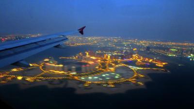 ドーハ、イラン、中央アジア、天山山脈を機上から眺める