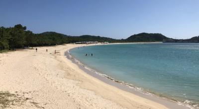 壱岐の美しい筒城浜ビーチと龍蛇神神社③
