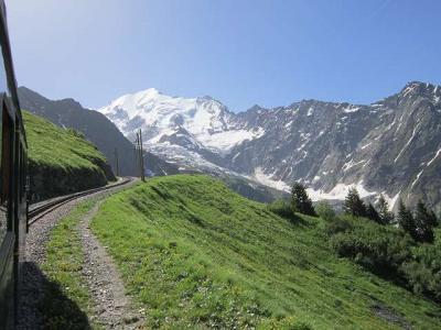 2019・シャモニー、サースフェーで山歩き・ちょっとイタリアで街歩き(その5、モンブラン・トラムウエーに乗って)