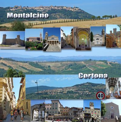 トスカーナ街巡り+ローマ 10 -ワインの街、モンタルチーノと「トスカーナの休日」の舞台になった、コルトーナ観光-