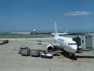 颱風11號が、台湾に直撃する前に脱出、JL804で返日本。