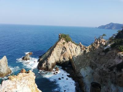 黄金崎で海に癒される旅