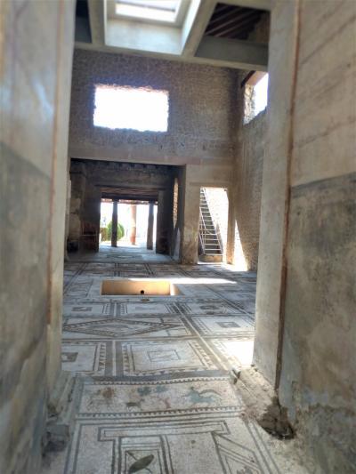 第5日目(8月10日)ナポリからポンペイ観光、ナポリ観光(カポディモンテ美術館)、フェリーでパレルモへ