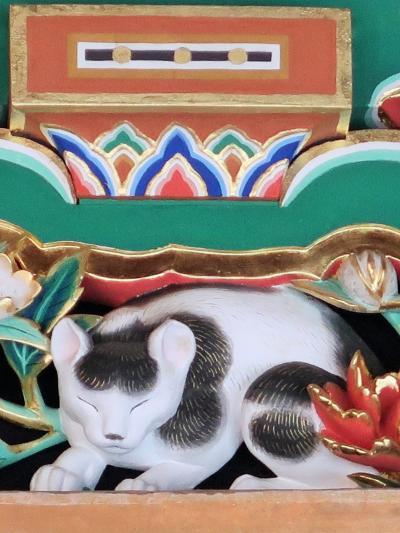 日光26 東照宮h 国宝 - 眠り猫 - 坂下門あたり ☆「猫も寝るほどの平和」を象徴か