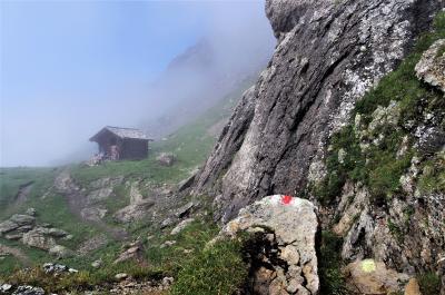 ブスアルプ霧中ハイキング(スイス2)