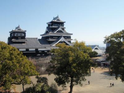 2010.01 正月に行く西日本周遊旅行(3)熊本城観光と、豊肥本線九州横断