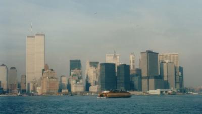 1986年のニューヨーク。World Trade Centerのtwin tower がありました。