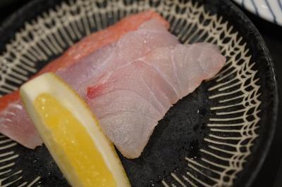 20190831-1 豊洲 高はしさん、鳴門金時レモン煮とか、尾長鯛・噴火湾のまぐろとか、えぼだい塩焼とか