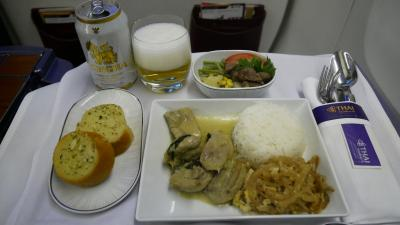スタアラ特典 東南アジア3都巡り搭乗編その4 THAバンコクビジネスクラス搭乗記2019/07(TG436 CGK-BKK B772)