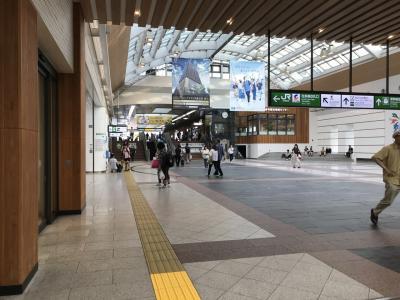 コンフォートホテル長野泊と長野駅付近