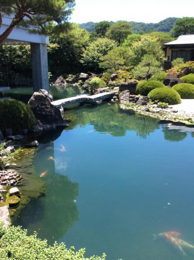 足立美術館の庭園、松江城、