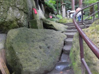 立石寺の階段で筋肉痛