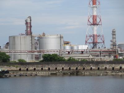 久しぶりに旧四日市港の潮吹き防波堤を見て来ました。 (2019年8月31日)