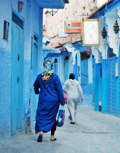 今日は何色?初ムスリムの国モロッコへ・・・おそるおそる駆け抜けた6日間!③☆青い町の真骨頂・・・早朝のシャウエン☆