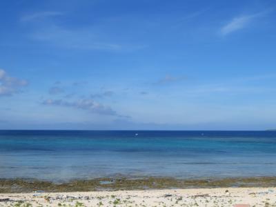宮里海岸♪今日は波照間もフィリピンも見えなかった♪勝手に付けた『くろしま 幸を呼ぶパワースポット』2019年7月八重山・黒島8泊9日118