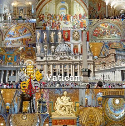 トスカーナ街巡り+ローマ 13 -バチカン美術館、サン ピエトロ大聖堂観光、ランチはリストチッコ(Ristochicco)-