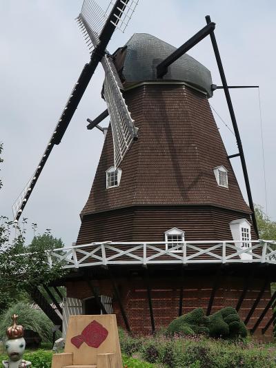 船橋-3 アンデルセン公園c  〔デンマーク式風車〕  ☆19世紀田園風景~農家を再現