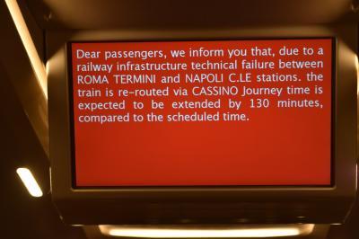 女ひとり、イタリア9日間:飲んで食べて観て。。*3日目後半・列車遅れすぎ~*
