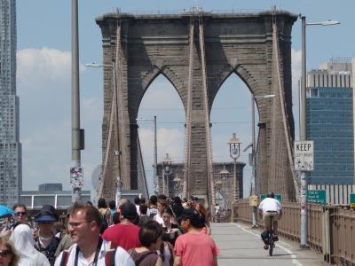 NYCを歩く。(4.7) Brooklyn Bridge を歩く。いえいえ,歩いて渡ったわけではありません。