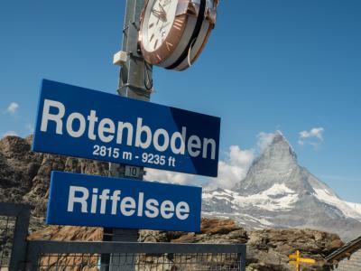 Gornergrat 鉄道とRotenboden~Riffelberg トレッキング