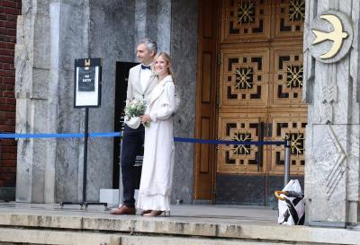 ノーベル平和賞の授賞式会場 オスロ市庁舎で結婚式に遭遇
