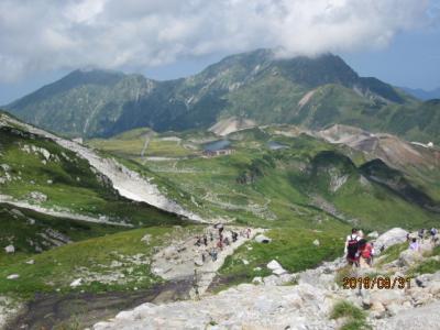立山黒部アルペンルートと立山登山②立山雄山登山