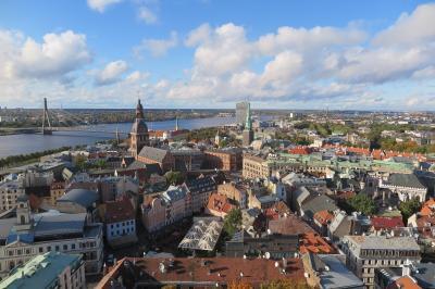 ラトビア・リガ ハンザ同盟の街並みが残るリガ旧市街