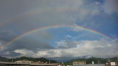 愛媛に、虹が!