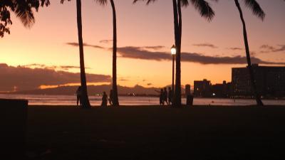 ハワイで自転車、最後にふーっ
