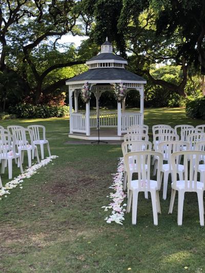 2019 夏旅 ハワイ ハレコア ガーデンウエディングに参列する