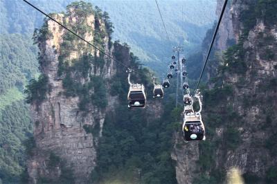 武陵源・天子山自然保護区観光  少数民族ショー「魅力湘西」も鑑賞